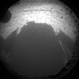 Shadow of Curiosity Rover upon Mars landing